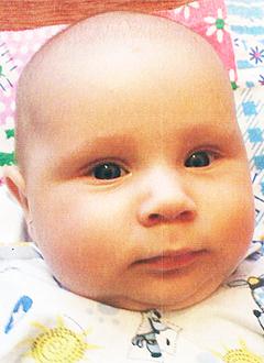 Арсений Маринчук, 3 месяца, врожденная левосторонняя косолапость, требуется лечение по методу Понсети. 127920 руб.