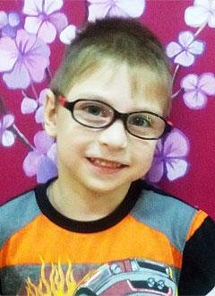 Ярослав Глазков, 8 лет, детский церебральный паралич, спастический тетрапарез, кифосколиоз 2 степени, деформация стоп, требуется велотренажер. 310093 руб.