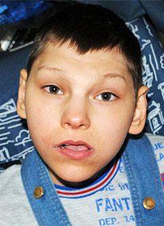 Витя Кореньков, 13 лет, детский церебральный паралич, требуется ортопедическая опора для сидения. 36512 руб.
