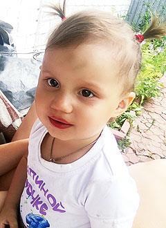 Ульяна Пожидаева, 2 года, двусторонняя тугоухость 4-й степени, требуются слуховые аппараты. 184450 руб.