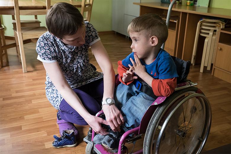 С воспитателями и волонтерами Сёма подружился сразу